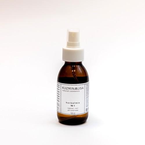 KUZMINAALISA herbalmix №1, гидролат - мист для сухой кожи, 100 мл