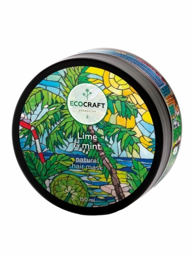 """EcoCraft Натуральная маска для укрепления и питания волос """"Lime & mint"""""""