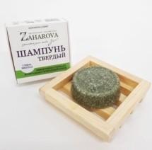 Zaharova ТВЕРДЫЙ ШАМПУНЬ с ментолом/глиной, 50 гр