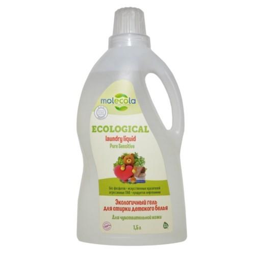 MOLECOLA - Гель для стирки детского белья Pure Sensitive для чувствительной кожи экологичный, 1,5 л