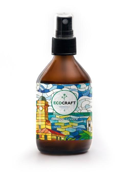 Экокрафт - Несмываемый спрей-кондиционер для блеска, гладкости и упругости волос Orange Greece Апельсиновая Греция100 мл