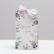 Пакет подарочный с лентой Special for you, 13 × 23 × 7 см