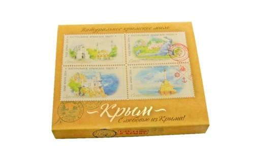 Сувенирный набор крымского мыла Акварели Крыма  100г