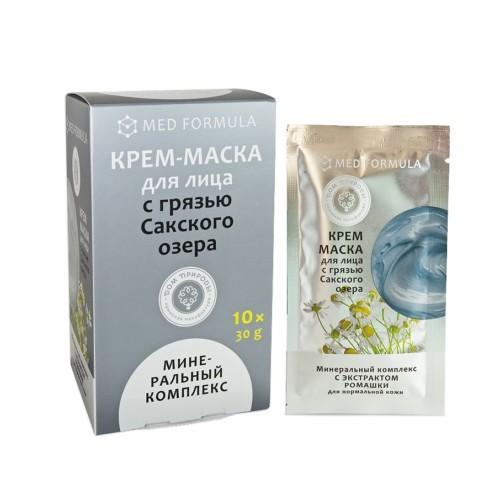 Крем-маска МИНЕРАЛЬНЫЙ  КОМПЛЕКС с грязью Сакского озера (саше пакет 30г)