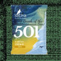 """Sativa №501 Пена для ванны """"Дикий пляж Средиземного моря"""" 15г"""