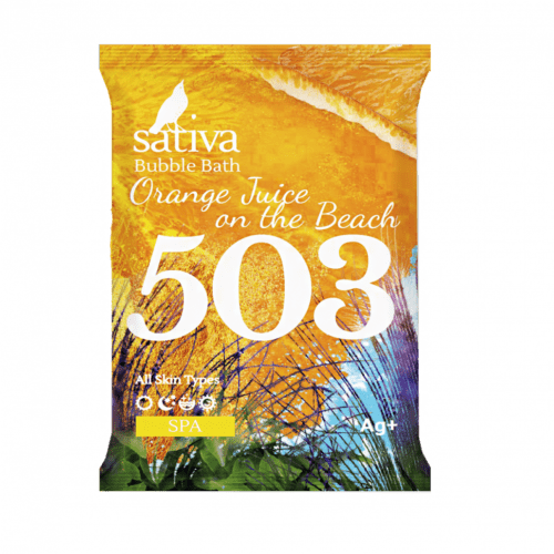 """Sativa №503 Пена для ванны """"Апельсиновый фреш на пляже"""" 15г"""