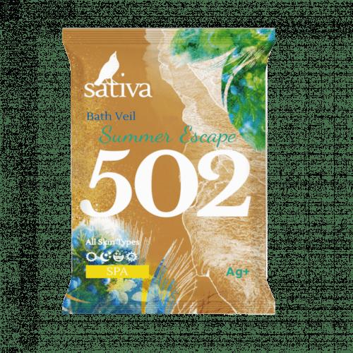 """Sativa №502 Вуаль для ванны """"Побег в жаркое лето"""" 15г"""