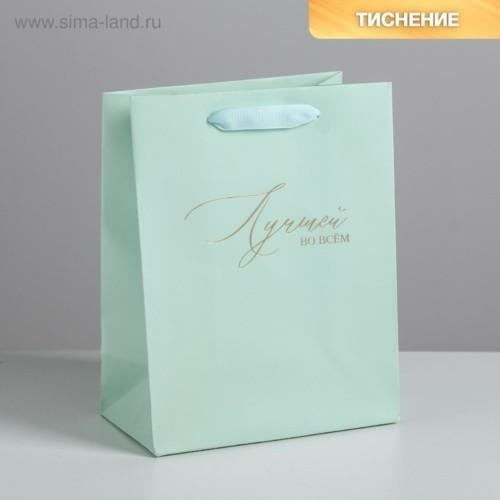 Пакет ламинированный вертикальный «Лучшей во всем», MS 18 × 23 × 10 см
